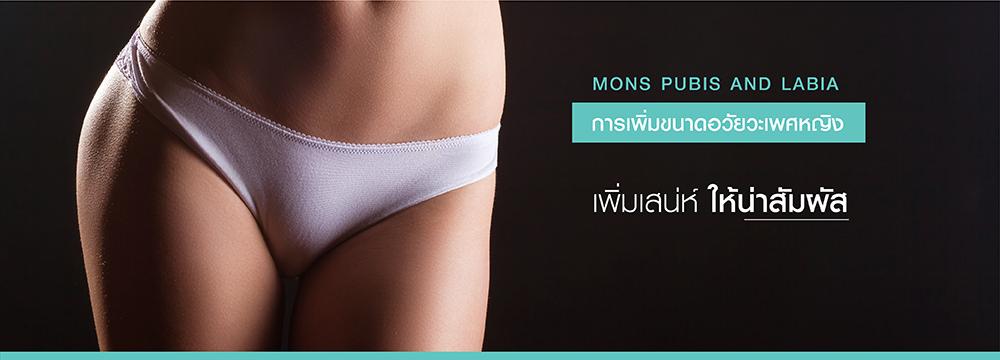 การเพิ่มขนาดอวัยวะเพศหญิง MONS PUBIS AND LABIA